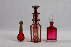 Botella de perfume antigua 19 siglo Fotos de archivo