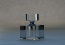 Botella de perfume cristalina Foto de archivo