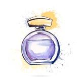 Botella de perfume hermosa Foto de archivo libre de regalías