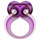 Botella de perfume púrpura de lujo Foto de archivo
