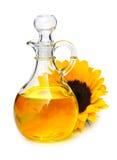 Botella de petróleo de girasol Foto de archivo libre de regalías