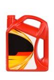 Botella de petróleo de motor Imagen de archivo libre de regalías