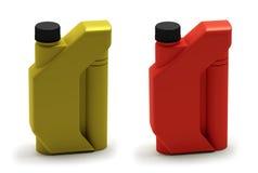 botella de petróleo de motor 3D, caja Imagenes de archivo