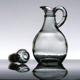 Botella de petróleo vacía de ensalada Foto de archivo libre de regalías
