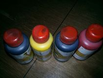 Botella de Pigmen Imagen de archivo libre de regalías
