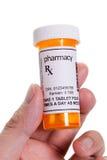 Botella de píldora Imágenes de archivo libres de regalías