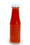 Botella de salsa de tomate Fotos de archivo
