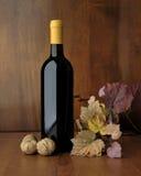 Botella de sistema del vino rojo Fotografía de archivo libre de regalías