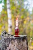 Botella de veneno, cápsula venenosa, Halloween Imagen de archivo