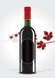 Botella de vino   Stock de ilustración