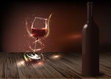 Botella de vino Foto de archivo libre de regalías