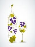 Botella de vino abstracta Imagen de archivo