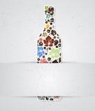 Botella de vino abstracta del alcohol del fondo de la bebida Stock de ilustración