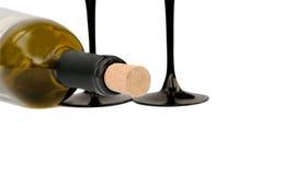 Botella de vino aislada Imagen de archivo libre de regalías