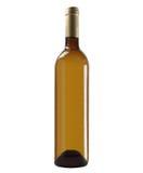 Botella de vino blanco Fotografía de archivo