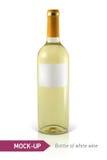 Botella de vino blanco stock de ilustración