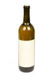 Botella de vino con la escritura de la etiqueta en blanco Foto de archivo