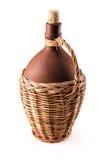 Botella de vino de cerámica Foto de archivo