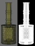 Botella de vino del vidrio verde Imágenes de archivo libres de regalías