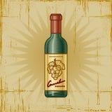 Botella de vino retra Fotos de archivo
