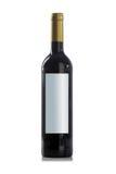 Botella de vino rojo sin escritura de la etiqueta Fotografía de archivo libre de regalías