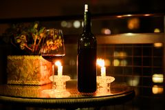 Botella de vino sin escritura de la etiqueta Fotografía de archivo libre de regalías