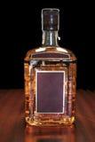 Botella de whisky imagen de archivo