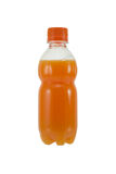 Botella de zumo de naranja Imagen de archivo libre de regalías