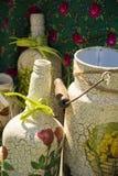 Botella decorativa y otra Foto de archivo libre de regalías