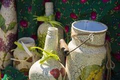Botella decorativa y otra Imagen de archivo libre de regalías