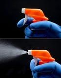 Botella del aerosol Fotografía de archivo libre de regalías