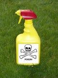 Botella del aerosol del herbicida Foto de archivo libre de regalías