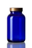Botella del azul de cobalto Foto de archivo