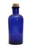 Botella del azul de la farmacia Fotos de archivo