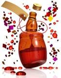 Botella del baile de alcohol. Imagen de archivo libre de regalías