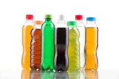 Botella del color aislada en un blanco Imagen de archivo