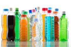 Botella del color aislada en un blanco Foto de archivo libre de regalías