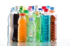 Botella del color aislada en un blanco Imagenes de archivo