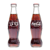 Botella del contorno de la Coca-Cola Foto de archivo