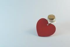 Botella del corazón Fotografía de archivo