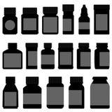 Botella del envase de almacenaje de la medicina Fotografía de archivo libre de regalías