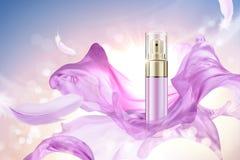 Botella del espray de Skincare con la gasa stock de ilustración