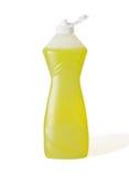 Botella del jabón del plato Imágenes de archivo libres de regalías