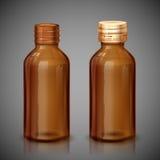 Botella del jarabe de la medicina Fotografía de archivo libre de regalías