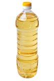Botella del litro de petróleo vegetal Imagen de archivo libre de regalías