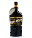 Botella del negro del whisky escocés Fotografía de archivo libre de regalías