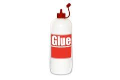 Botella del pegamento Imagen de archivo libre de regalías
