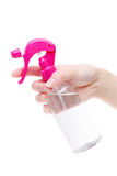 Botella del plástico del perfume del espray Foto de archivo