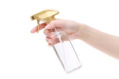 Botella del plástico del perfume del espray Fotos de archivo libres de regalías
