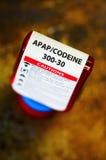 Botella del presctiption de la codeína Imagen de archivo libre de regalías